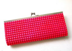 DIY Pink Studded Clutch