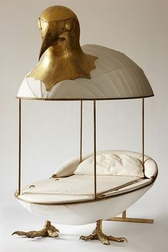 Canopy Bed by Francois Lalanne: Return to the egg? #Egg #Francois_Lalanne by nita