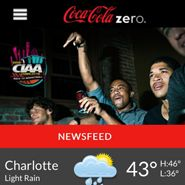 Coca-Cola Zero's Mobile app in support of its CIAA (Central Intercollegiate Athletic Association Tournament) #sponsorship. The browser-based mobile application updates attendees on all the activities surrounding the event. #Coke