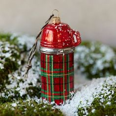 Glass Thermos Ornament