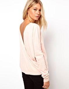 Enlarge ASOS Drape Back Sweater