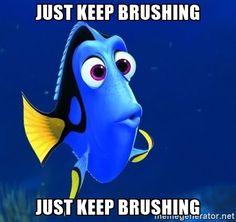 What do we do? We brush, brush, brush... #dentistry