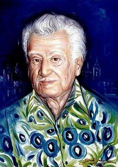 Portrait of Brazilian writer Jorge Amado.