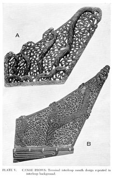 From Sculpture and Design, An Outline of Maori Art, published by the Auckland War Memorial Museum, Maori Designs, Polynesian People, Outrigger Canoe, Maori Art, Memorial Museum, Wood Carving, Sculpture Art, Canoes, Wooden Boats
