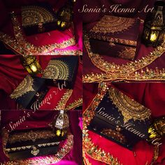 Jewellery boxes! Hand design and crafted by Sonia's Henna Art Artist in Toronto