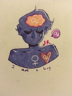 Transgender Boys, Trans Boys, Trans Art, Trans Rights, Vent Art, Boy Drawing, Lgbt Love, Fanart, Boy Art