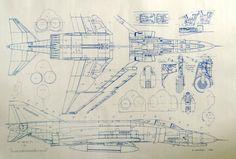 Vietnam Era F-4 Fighter Blueprint. $18.99, via Etsy.