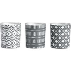 H&M 3-pack candles (£4.99) ❤ liked on Polyvore featuring home, home decor, candles & candleholders, black, unscented candles, black candles, black home decor and round candles