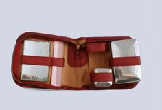 Traveling Set Toiletry Leather Travel Case by GrandmasDowry