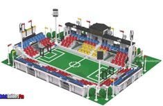 Custom Lego City Kits Sets Town Plans and Instructions Lego Soccer, Lego Sports, Soccer Stadium, Stadium Seats, Football Stadiums, Baseball Park, Pro Baseball, Lego Knights, Lego City Sets