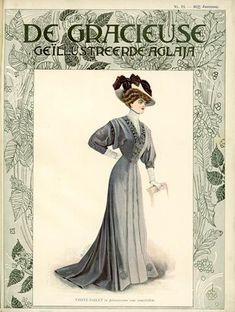 De Gracieuse, June 1908, Edwardian Fashion Plate