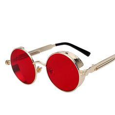 9f4bfda01c6 Men s Round Metal Sunglasses Retro Sunglasses Steampunk Men Women Fashion  Metal Glasses   Price