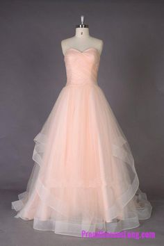 Lovely Wedding Dresses,Long Wedding Gown,Tulle Wedding Gowns,Ruffled Bridal Dress,Ball Gown Wedding Dress,Pearl Pink Brides Dress MT20184665