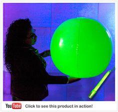Windy City Novelties Glow in the Dark Beach Ball 24 Inches Green