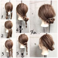 簡単で可愛い?自分でできるヘアアレンジ✨ ***オフィスカジュアル***? ギブソンタック風にまとめたシニヨンに クレセントコームでこなれ感を出したシンプルだけどオシャレなオフィスstyle✂︎ ・ ・ ゴム2本ピン4本 所有時間5分 1.左右で2つに分けます。 2.それぞれゴムで1つに結びます。 3.結んだ毛束をそれぞれ三つ編みします。 4.三つ編みの毛束を内側に折り返します。 5.の毛束をくるくる丸めながら襟足付近でピンで2カ所留めます。※逆側も同様に Fin.全体を適度にほぐし、シニヨンの上にクレセントコームをアクセントにしておくれ毛をコテで巻いたら完成? ・ *アレンジリクエストお待ちしてます* ・ 吉祥寺 LinobyU-REALM リノバイユーレルム ?0422272131 東海林翔太