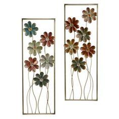 "Vintage Blooms Metal Plaques, Set of 2 | Kirklands 12.25"" x 35.75"" $48.00"