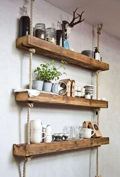 Living room wall shelves inspirational easy and stylish diy wooden wall shelves ideas of living room Diy Wooden Wall, Wooden Wall Shelves, Floating Shelves, Wooden Shelf Design, Floating Cabinets, Wood Wall, Decor Room, Living Room Decor, Diy Home Decor