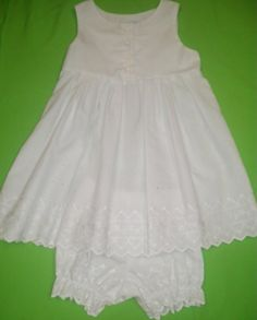 Size 3T  White Eyelet Sleeveless Dress with by anncraftcorner, $27.00