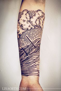 linework engraving etching by lisa orth #arm #forearm #tattoos