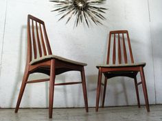 2 Danish Modern Teak Chairs Koefoeds Hornslet Teak dining chairs side chairs on Etsy, $895.00