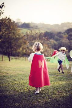 superhero birthday party - cape party favors