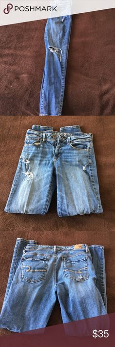 AE Skinny Jeans size 4 super skinny jeans American Eagle Outfitters Jeans Skinny
