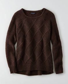 AEO Open Stitch Sweater, Women's, Brown