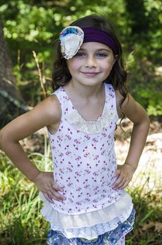 Flower Tank $34.00 - Sado Boutique FREE SHIPPING on orders over $50!! www.SadoBoutique.com Children's Boutique Clothing, Vintage Inspiration, infant, toddler, girl, and tween sizes. If you like Persnickety or Mustard Pie you will love this brand!