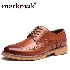 Men's Shoes Mens Oxfords Shoes Leisure Casual Genuine Leather Wedding Dress Shoes For Men Business Brogues Shoes Moccasins Square Toe Shoes Shoes
