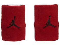 Jordan Jumpman Wristband Unisex 619352-695 Gym Red White Black WRISTBANDS b6c879489