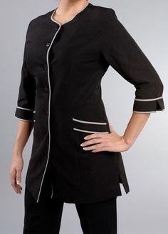 uniforme estilistas - Buscar con Google Housekeeping Uniform, Spa Uniform, Smocking, Image Search, Coat, Mens Tops, Jackets, Nursing, Education
