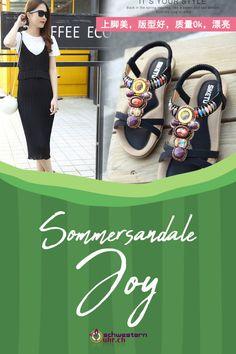 Sommersandale Joy mit dekorativen Perlen für Damen ☀💦  Sommerliche Sandale mit weichem Gel-Fussbett ohne Zehentrenner. Dank dem   elastischen Fersenband sehr angenehm auf der Haut zu tragen. Wie auf Wolken schweben!  Jetzt online bei schwesternuhr.ch bestellen - Ohne Versandkosten! Schweizer Unternehmen.  #schwesternuhrch #schwesternuhr #schwesternschuhe #sandalen #sommersandalen #sommer Joy, Beautiful Sandals, Comfortable Sandals, Hiking Supplies, Sisters, News, Business, Clouds, Beads