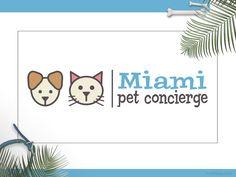 Pet Business Logo Design Update for Miami Pet Concierge I #petsittinglogodesign I #petbusinessdesign I #petdesign I #catdoglogodesign I #SniffDesignStudio