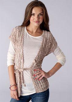 crocheted cardigan