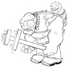 ... colorear zombistein plantas vs zombies colorear zombi gig translate Plants Vs Zombies Personajes, Coloring Sheets, Coloring Books, Zombies Vs, Halloween Crafts, Halloween Decorations, Harvest Crafts, Plant Zombie, Zombie Birthday