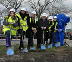 Breaking ground in March 2013 with Beth Tweddle and Mayor Joe Anderson Childrens Hospital, March 2013, Park, Children's Clinic, Parks
