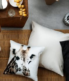 Product Detail   H SE Bed Pillows, Cushions, H&m Home, Interior Accessories, Home Living Room, Giraffe, Pillow Cases, Sweet Home, Fireplace Ideas