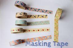 Beautiful masking tape, from http://www.tapepink.com/