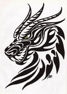 Dragon Head Tribal Art Decal Wall Car Truck Laptop Bike Vinyl Sticker x tribal dragon tattoo Details about Dragon Head Tribal Myth Wall Car Truck Laptop Window Vinyl Decal x Dragon Head Tattoo, Tribal Dragon Tattoos, Dragon Tattoo Designs, Dragon Head Drawing, Tribal Animal Tattoos, Dragon Drawings, Tribal Animals, Geometric Tattoos, Head Tattoos