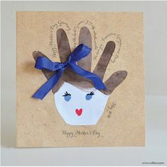 HANDPRINT CARDS for Mother's Day   Isn't there something extra special about a hand made card? Since these cards are tracings, rather than p...