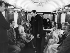 "Star studded cast in the 1974 film ""Murder On The Orient Express"" with Albert Finney as Agatha Christie's Belgian detective Hercule Poirot."