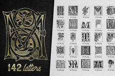 Vintage Letter M Vector And PNG by Graphic Spirit on @creativemarket