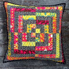 Sour Candy Cushion by Adrianne @onthewindyside
