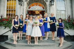 blue bridesmaids dresses mismatched, image by Draw Down The Stars http://www.drawdownthestars.com/