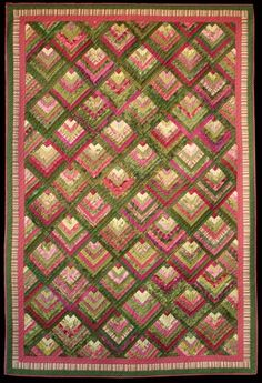 Mossy Point pattern by Flavin Glover. ... | Quilts - log cabin style