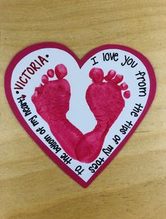 valentine crafts for infants Summer Arts And Crafts, Arts And Crafts For Teens, Art And Craft Videos, Valentine's Day Crafts For Kids, Valentine Crafts For Kids, Daycare Crafts, Valentine Day Crafts, Baby Footprint Art, Footprint Crafts