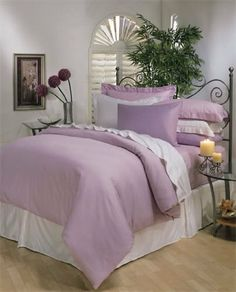 """8PC ITALIAN 1500TC Egyptian Cotton GOOSE DOWN COMFORTER Bed in a Bag - Sheet , Duvet California King Lavender by Egyptian Cotton Factory Outlet Store. $299.99. This 8pc luxury bedding set is designed & crafted in ITALY.. 1 Flat Sheet (110"""" x 102""""), 1 Fitted Sheet (72"""" x 84"""") and 2 King Pillow Cases (20"""" x 40""""). ITALIAN 1500TC long-staple Egyptian Cotton Sheet and Duvet Set. Beautiful Duvet Set : 1 Duvet Cover (106"""" x 90"""") and 2 Shams (20"""" x 40""""). Luxury 1500TC 100%..."""