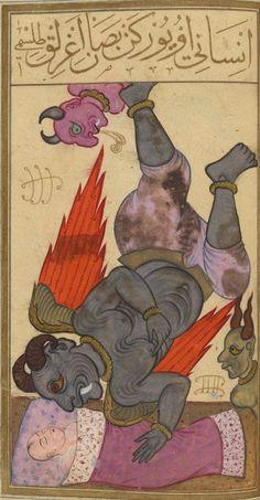 Bibliothèque nationale de France, Supplément turc 242, f. 86r (Kabus, the incubus). Seyyid Mohammed b. Emir Hasan el-Suudî, Matâli' al-sa'âdet. Istanbul, 1582.
