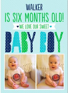 @britt_whit created this beautiful card for her baby boy's half birthday!