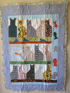 Check out this item in my Etsy shop https://www.etsy.com/listing/237672494/quilt-handmade-cat-quilt-lap-quilt-baby